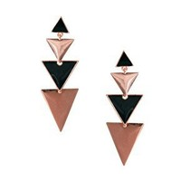 ASOS Colour Block Triangle Earrings at asos.com