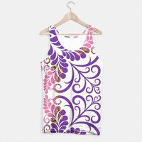 Pink Purple Flourish Tank Top, Live Heroes