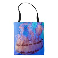 Beautiful Pink Jellyfish in Ocean Tote Bag