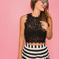 Harper Striped Pleated Black Shorts