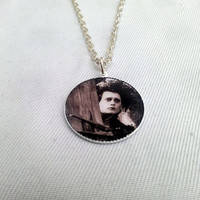 Edward Scissor Hands, Johnny Depp inspired, white necklace on silver plated chain