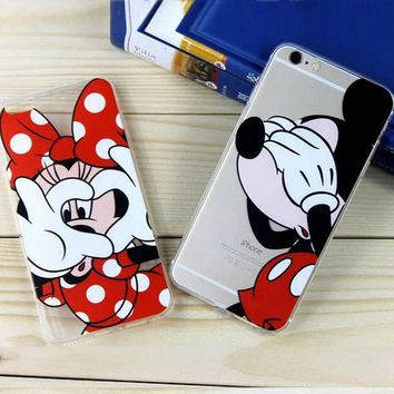LMFUS4 For Iphone 6 6s Cases Cute Cartoon Mickey Minnie Daisy Donald Phone Case Cover for Iphone 6 6s 4.7 Inch Soft TPU 2016 New