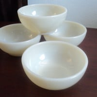 vintage set of 4 Fire King restaurant ivory by valeriesvintagehome