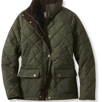 Bean's Upcountry Waxed-Cotton Down Jacket