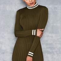 Kosiora Green Stripe Sport Dress