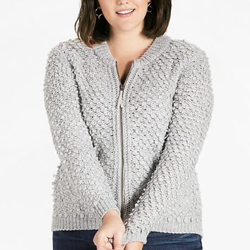 Lucky Brand Sweater Bomber