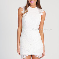 HOLLY COCKTAIL DRESS - WHITE