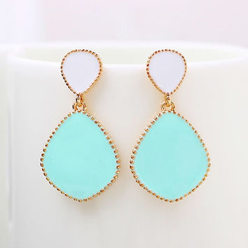 Min Oder $5 New Arrival Candy Color Enamel Dangle Earrings For Women = 1958801540