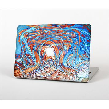 The Vibrant Color Oil Swirls Skin Set for the Apple MacBook Pro 13""
