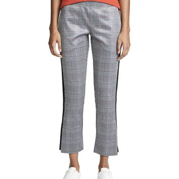 Plaid Cropped Track Pant