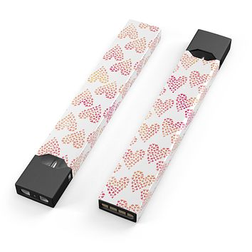 The Tiny Pink and Yellow hearts of a Whole - Premium Decal Protective Skin-Wrap Sticker compatible with the Juul Labs vaping device