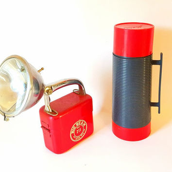 Midcentury Thermos Camping Thermos Coffee Tea Thermos Alladdin Thermos Cabin Farmhouse Camping NOS Large Thermos RV Retro Coffee Thermos