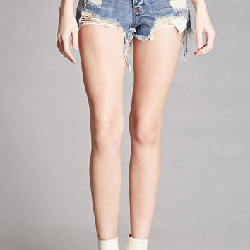 Distressed Denim Cutoffs