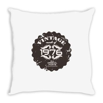 vintage made of 1976 all original parts Throw Pillow