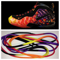Laced Loudly Nike Asteroid Foamposite Laces