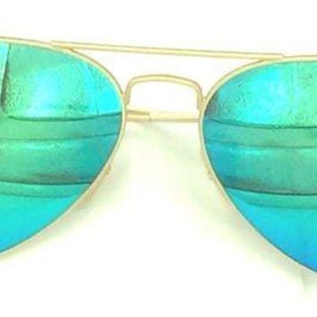 LOMFN Cheap Ray-Ban Aviator - Gold Frame | Green Flash Lens - 58mm RB3025 112/19 58-14(30) outlet