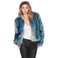 Fashion Women Faux Fur Coat LAVELIQ