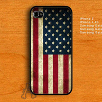 Vintage American Flag-IPhone 4/4S/5 Case-Samsung Galaxy S2/S3/S4 Case-AA23072013-17