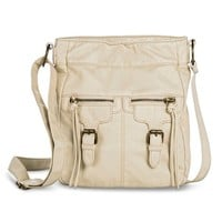 Women's Solid Crossbody Handbag - Ivory