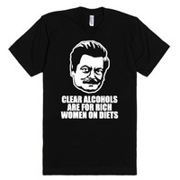 Rich women on diets-Unisex Black T-Shirt