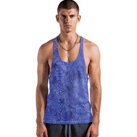 'Royal blue swirls doodles' Vests by Savousepate on miPic