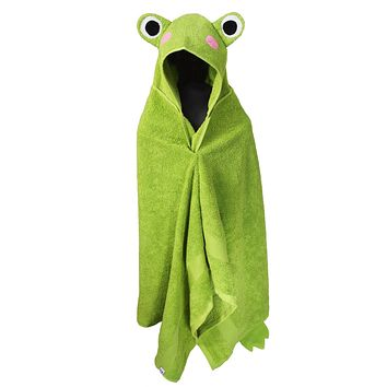 Hooded Children's Towels Kids Bath Towel Frog