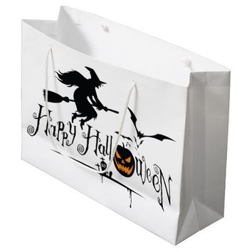 HAPPY HALLOWEEN LARGE GLOSSY GIFT BAG