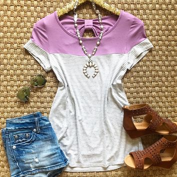 Sweet Lavender Bow Top