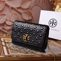 TB TORY BURCH WOMEN'S LEATHER INCLINED CHAIN SHOULDER BAG