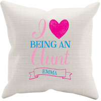 Personalized I Love Being An Aunt Pillowcase