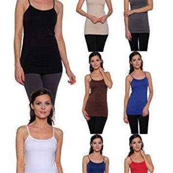 8 Pack Free to Live Women's Seamless Layering Camis