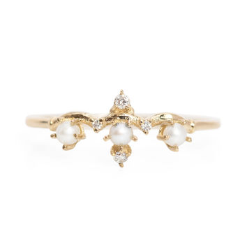 Pearl Winter Waltz Ring - Catbird