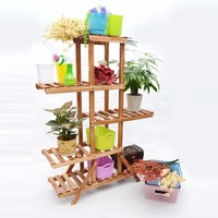 New 5 Tiers Flower Pot Racks Home Garden Decor Wood Plant Pot Display Stand Holder Succulent plants stand shelf Home Balcony