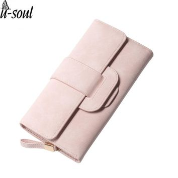 fashion women wallets high quality hasp pu leather new design long purse card holder purses for ladies A470