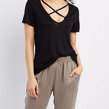 Strappy Caged Boyfriend Tee