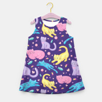 Playful Kittens Girl's Summer Dress, Live Heroes