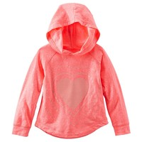 OshKosh B'gosh Graphic Knit Raglan Hoodie - Girls