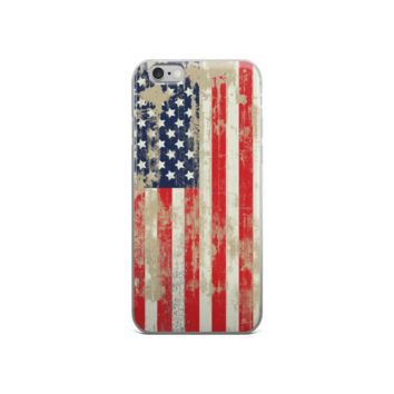 Distressed American Flag Apple iPhone 6/6s Case