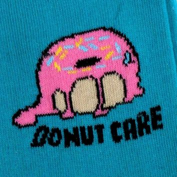 MENS DONUT CARE SULKY TURQUOISE DOUGHNUT SOCKS UK 6-11 / EUR 39-45 / US 7-12