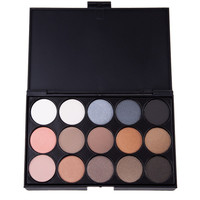 Women's Natural 15 Colors Eye Shadow Cosmestic Long Lasting Makeup Eyeshadow Palette 3 Patterns