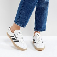 adidas Originals White Gazelle Super Trainers at asos.com