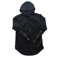 Men Double Side Zippers Hoodie