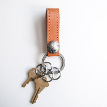 D&D Leather Keychain