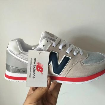 """""""New Balance 574"""" Unisex Sport Casual N Words Retro Multicolor Sneakers Couple Running Shoes"""
