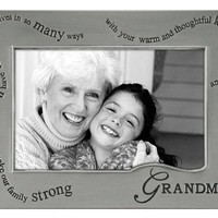 WAVY WORDS for Grandma . . . pewter frame by Malden - 4x6