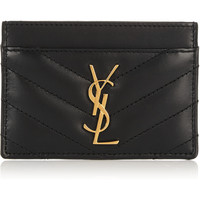 Saint Laurent - Quilted leather cardholder