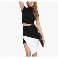 Side Split Skirt In Mono Block