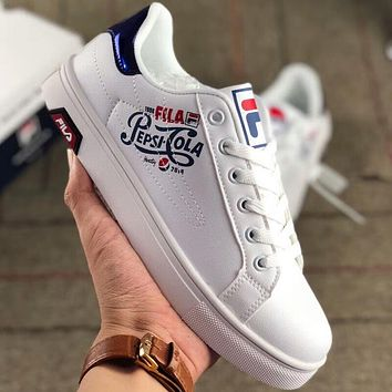 FILA joint FILA X Pepsi-Cola summer new wild skateboard shoes white shoes F-AA-SDDSL-KHZHXMKH Blue