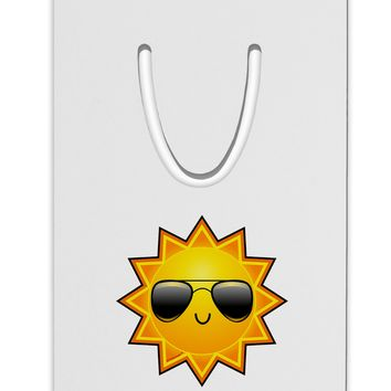 Sun With Sunglasses Aluminum Paper Clip Bookmark by TooLoud