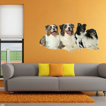 dogs wall Decals dogs wall decor dogs Full Color wall Decals Animals wall Decals veterinary clinic decor Home Decor for kids room cik2236